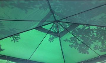 Павильон шатер садовый 3х3 с 3 стенками (тент - полиэстер+ПВХ), фото 3