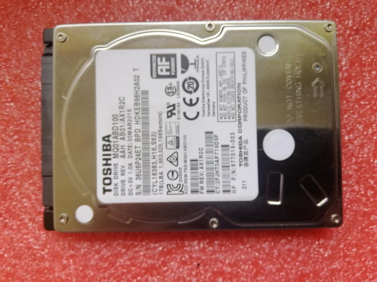 Жесткий диск HDD Toshiba MQ01ABD100 1Tb 1000Gb 2.5 для ноутбука состояние нового