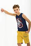 Майка на мальчика синяя СМИЛ р.92-140, фото 2