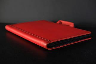Чехол для MacBook Кожа Дизайн №31 Итальянский краст цвет Красный, фото 3