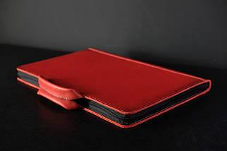 Чехол для MacBook Кожа Дизайн №31 Итальянский краст цвет Красный, фото 2