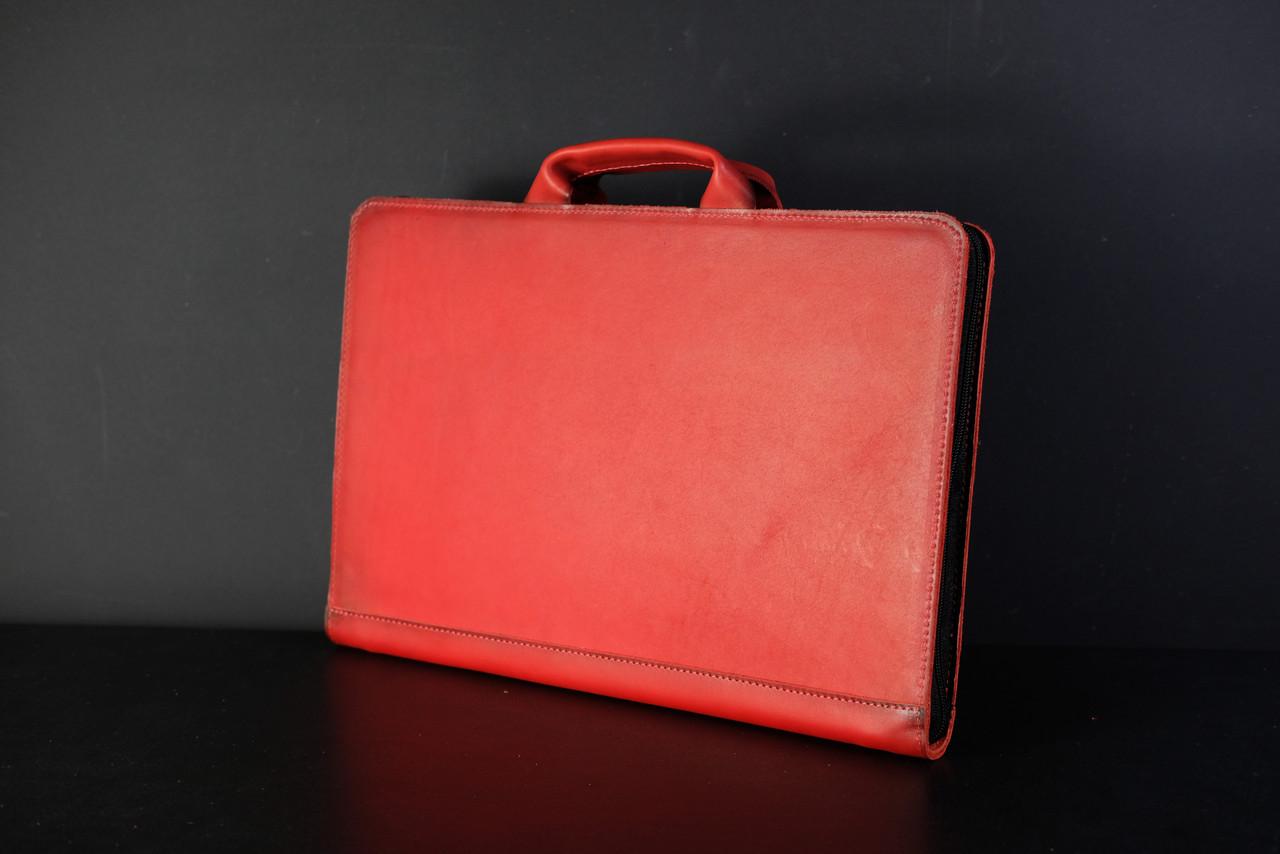 Чехол для MacBook Кожа Дизайн №31 Итальянский краст цвет Красный