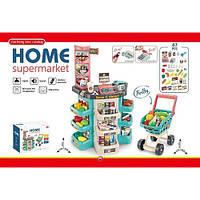 Магазин 668-76 прилавок, каса, сканер, візок, продукти, 47предм.,муз., бат., кор., 55-46-19см.