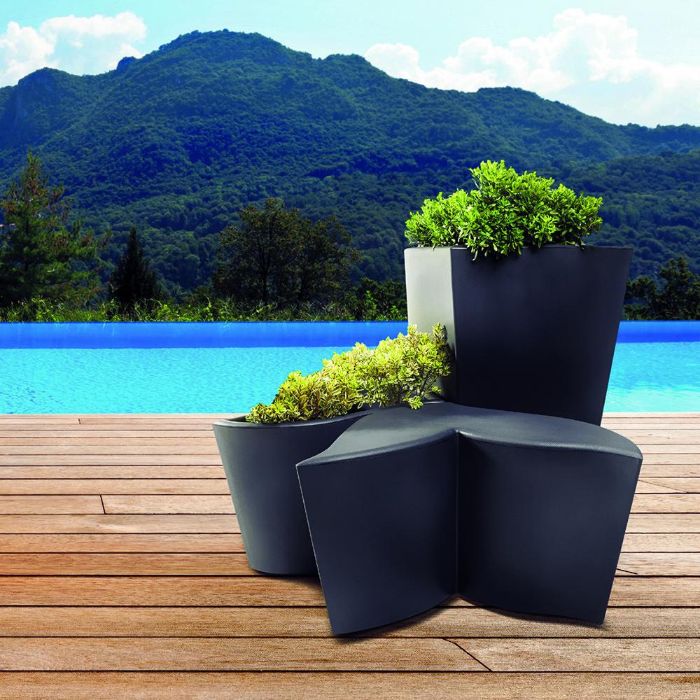 Декоративный вазон из трех модулей Nuova Pasquini&Bini Foglia