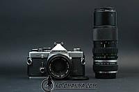 Olympus OM-2n kit Zuiko 50mm f1.8 + Zuiko 75-150mm f4.0 + teleconverter, фото 1