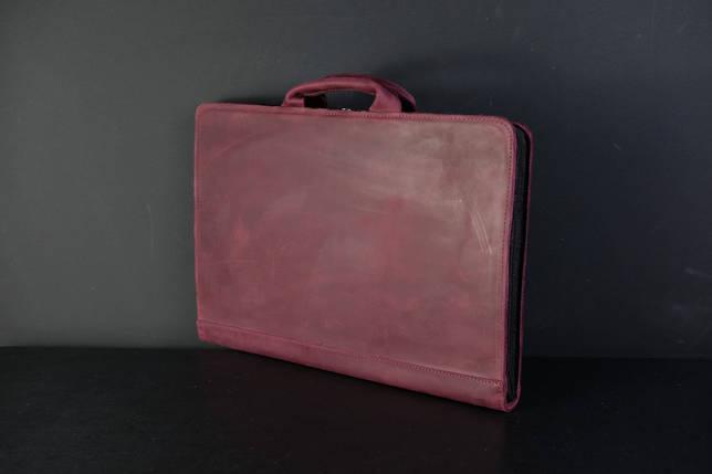 Чехол для MacBook Винтажная кожа, цвет Бордо, фото 2