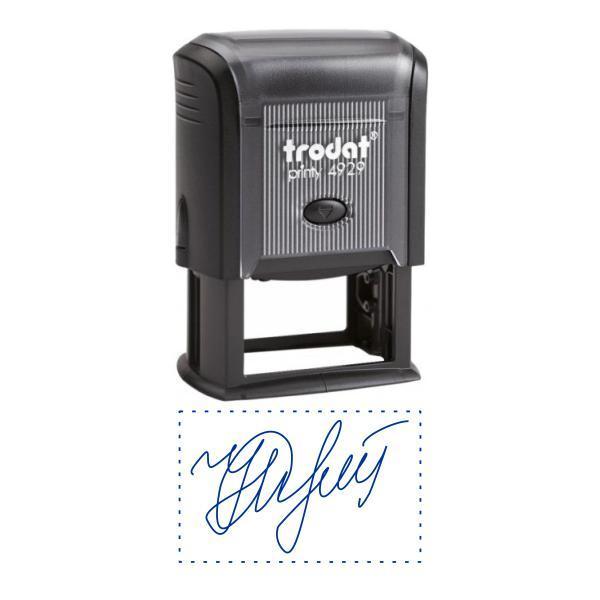 Факсимиле, подпись 50x30 мм с оснасткой Trodat 4929