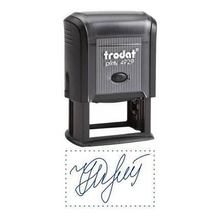 Факсиміле, підпис 50x30 мм з оснасткою Trodat 4929, фото 2