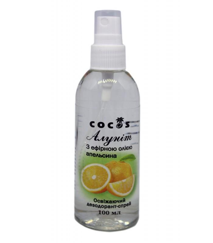 Дезодорант-спрей Алунит с эфирным маслом апельсина, 100 мл, Кокос