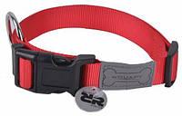 Wouapy basic нейлоновый ошейник для собак (25-40см) красный
