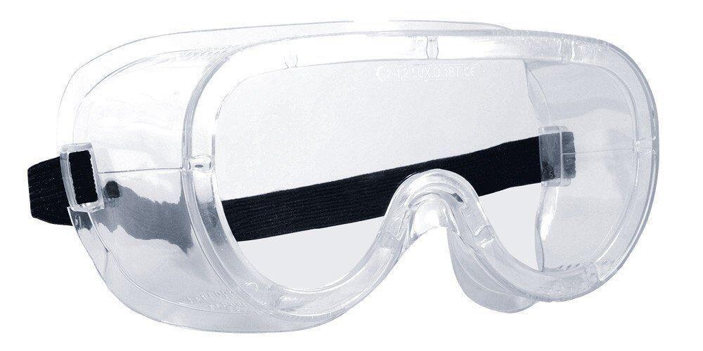 Очки прозрачные с прямой вентиляцией MONOLUX