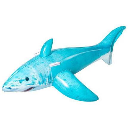 Плотик Bestway 41405 акула 183-102 см надувна іграшка з ручками, фото 2
