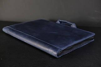 Чохол для MacBook Вінтажна шкіра, колір Синій, фото 3