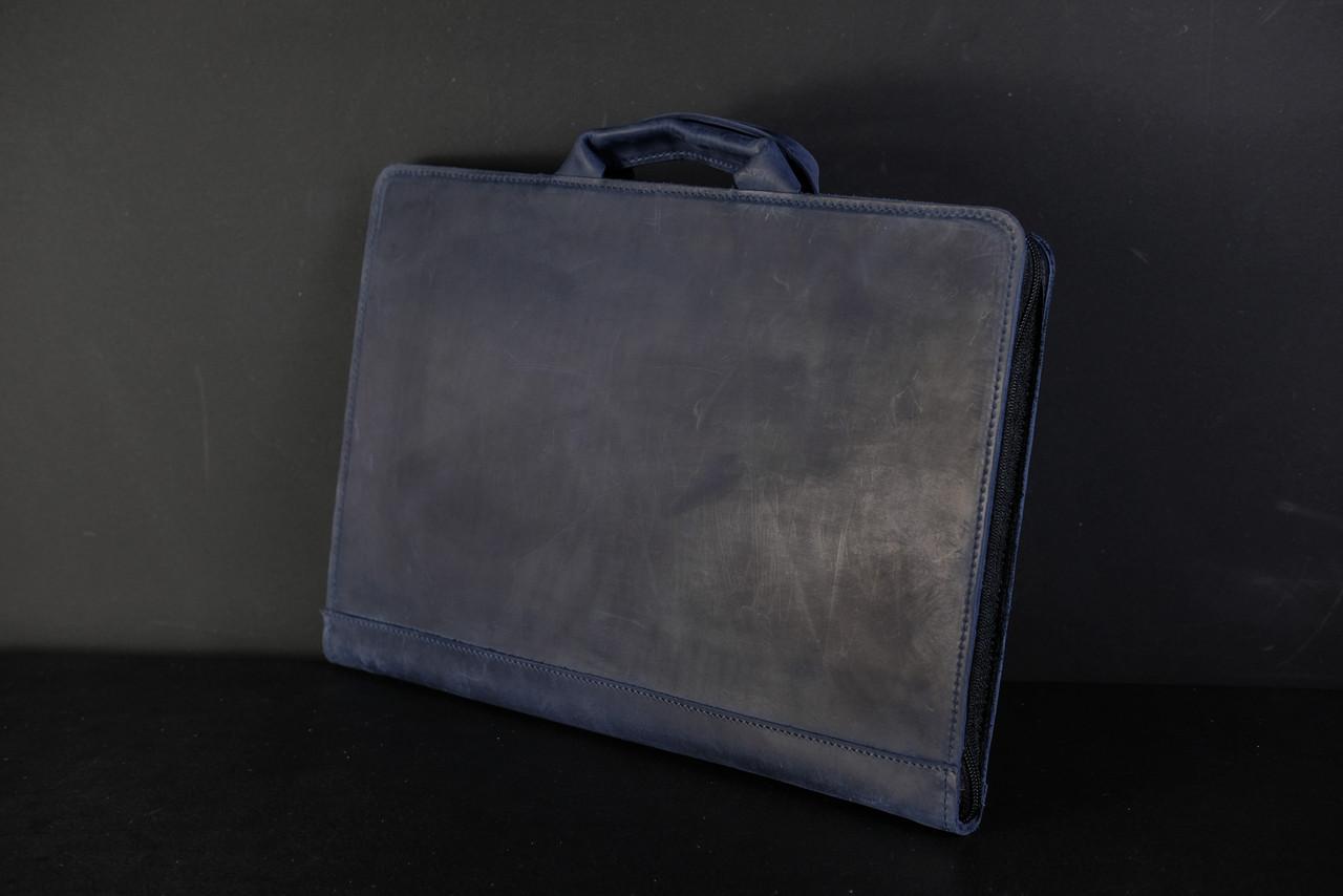 Чехол для MacBook Винтажная кожа, цвет Синий