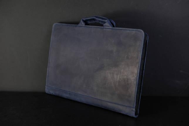 Чохол для MacBook Вінтажна шкіра, колір Синій, фото 2