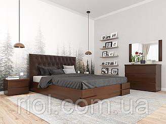 Ліжко дерев'яна Камелія двоспальне з підйомним механізмом