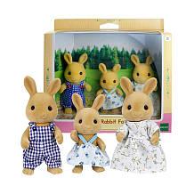 Sylvanian families 5129 Epoch Cім'я кроликів Очер Семья кроликов Ocher Rabbit Family Toy Epoch