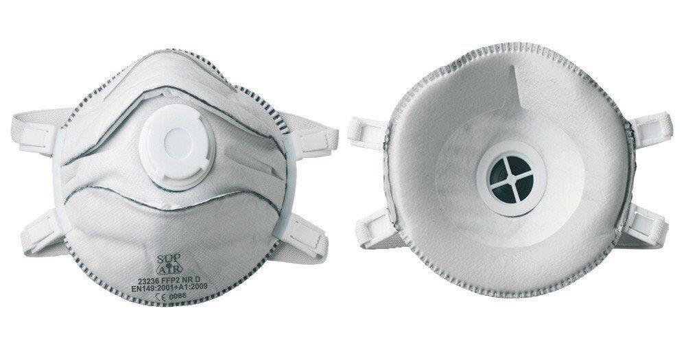 Респіратор FFP 2 нескладною чашевидний, з клапаном видиху (уп - 5 шт)