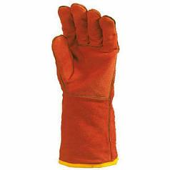 Перчатки рабочие с крагой спилковые