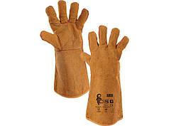 Перчатки рабочие с крагой спилковые для сварочных работ Amon