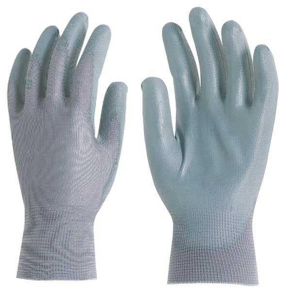 Перчатки серые, покрыты полиуретаном, для точных работ