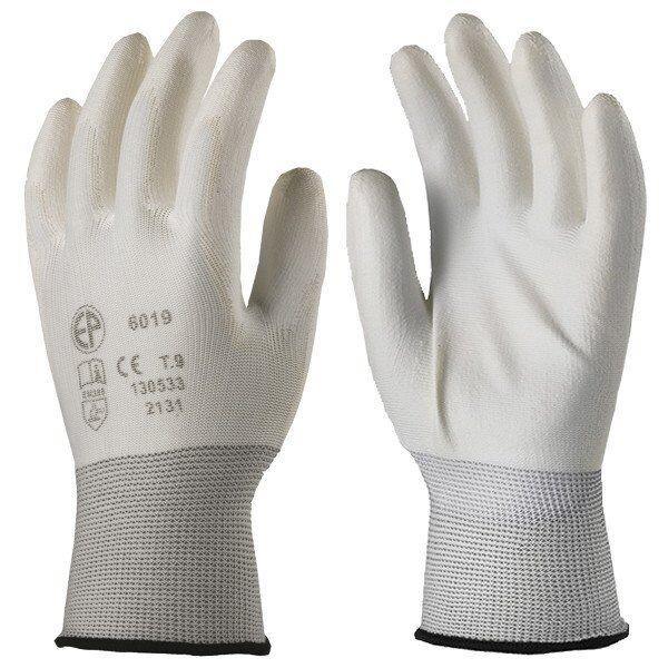 Перчатки для точных работ, покрытые полиуретаном