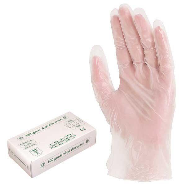 Перчатки одноразовые виниловые с присыпкой (уп - 100шт)