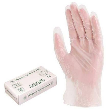 Перчатки одноразовые виниловые с присыпкой (уп - 100шт), фото 2