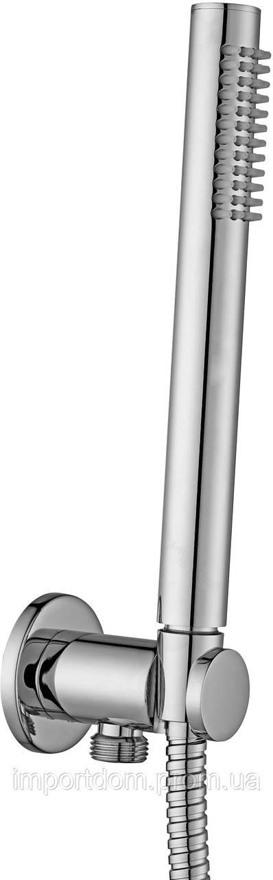Ручной душ с держателем Paffoni, шлангом 1500мм и выпуском со стены