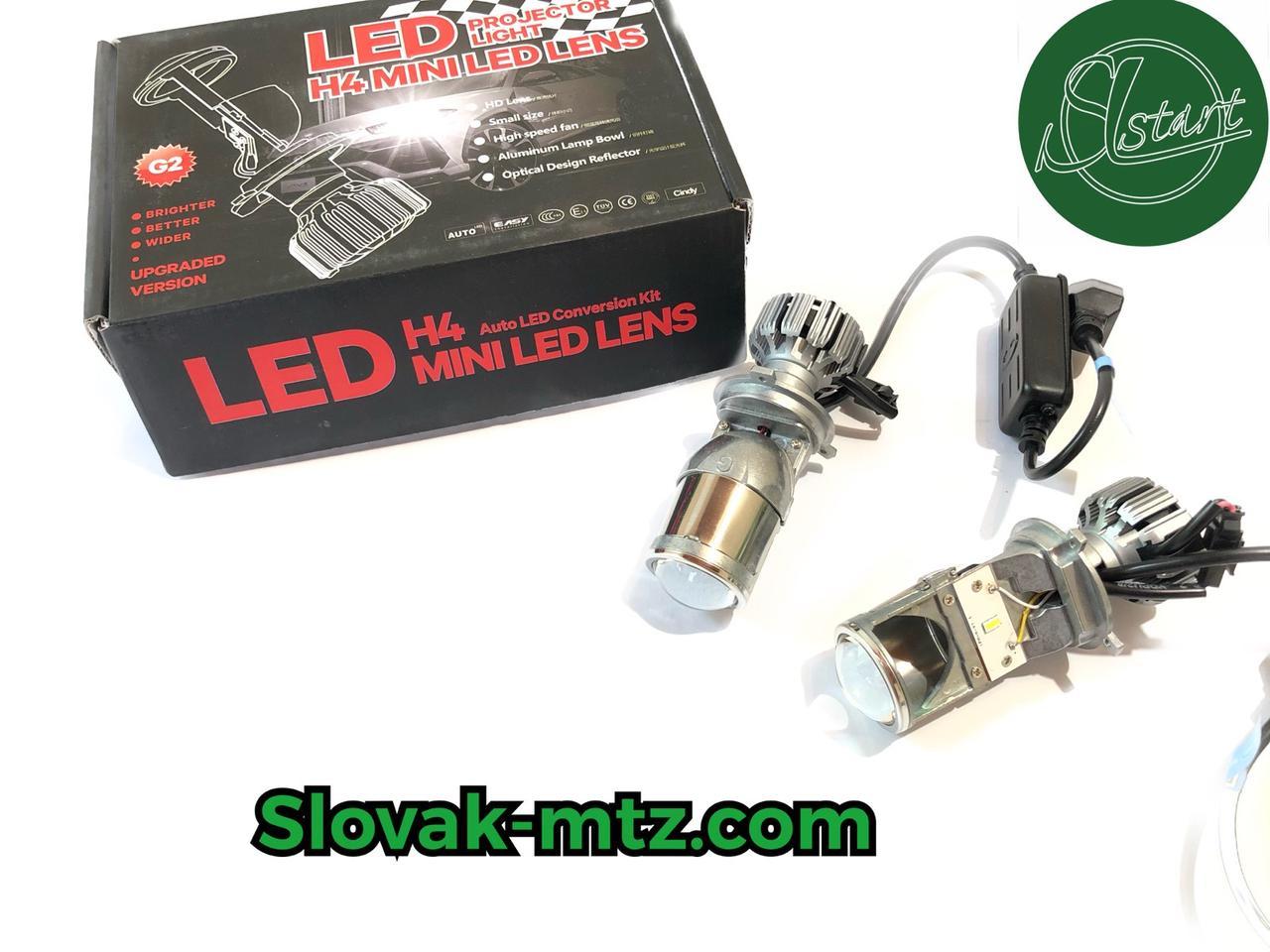 Линзы iDial LED H4 mini XS