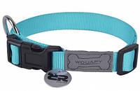 Wouapy basic нейлоновый ошейник для собак (25-40см) голубой