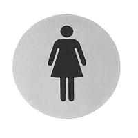 Табличка самокл. Женщина 75мм