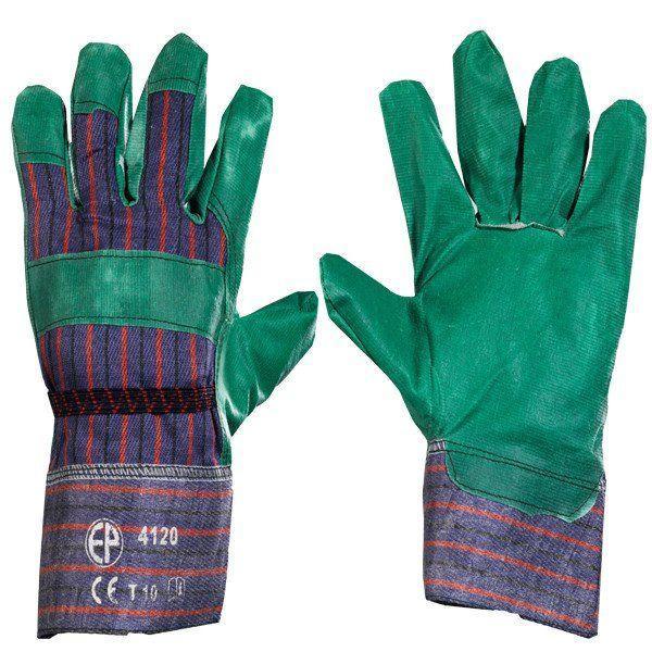 Перчатки  х/б с ПВХ покрытием, садовые.