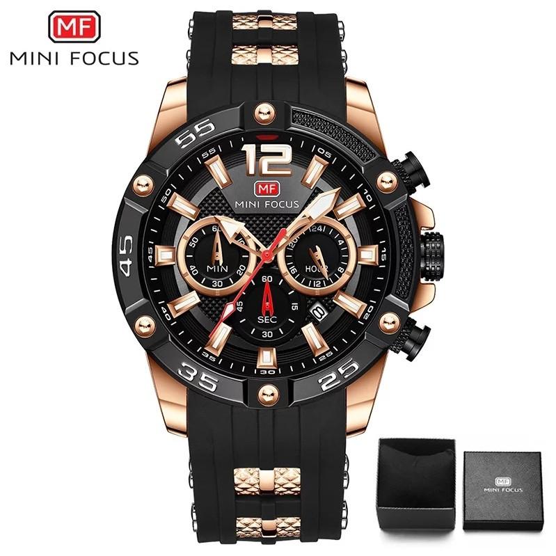 Наручные кварцевые мужские часы Mini Focus MF0349G Black-Gold