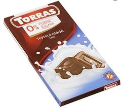 Шоколад без цукру молочний 75г ТМ Torras