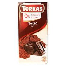 Шоколад чорний без цукру Negro 75г ТМ Torras