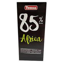 Шоколад чорний без цукру 85% Africa 100г ТМ Torras