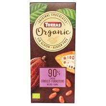 Шоколад чорний Organic  90% 100г ТМ Torras