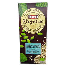 Шоколад чорний Organic з бобами сої та кіноа 100г ТМ Torras