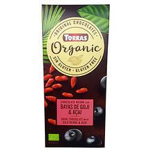 Шоколад чорний Organic з ягодами годжі та асаї  100г ТМ Torras