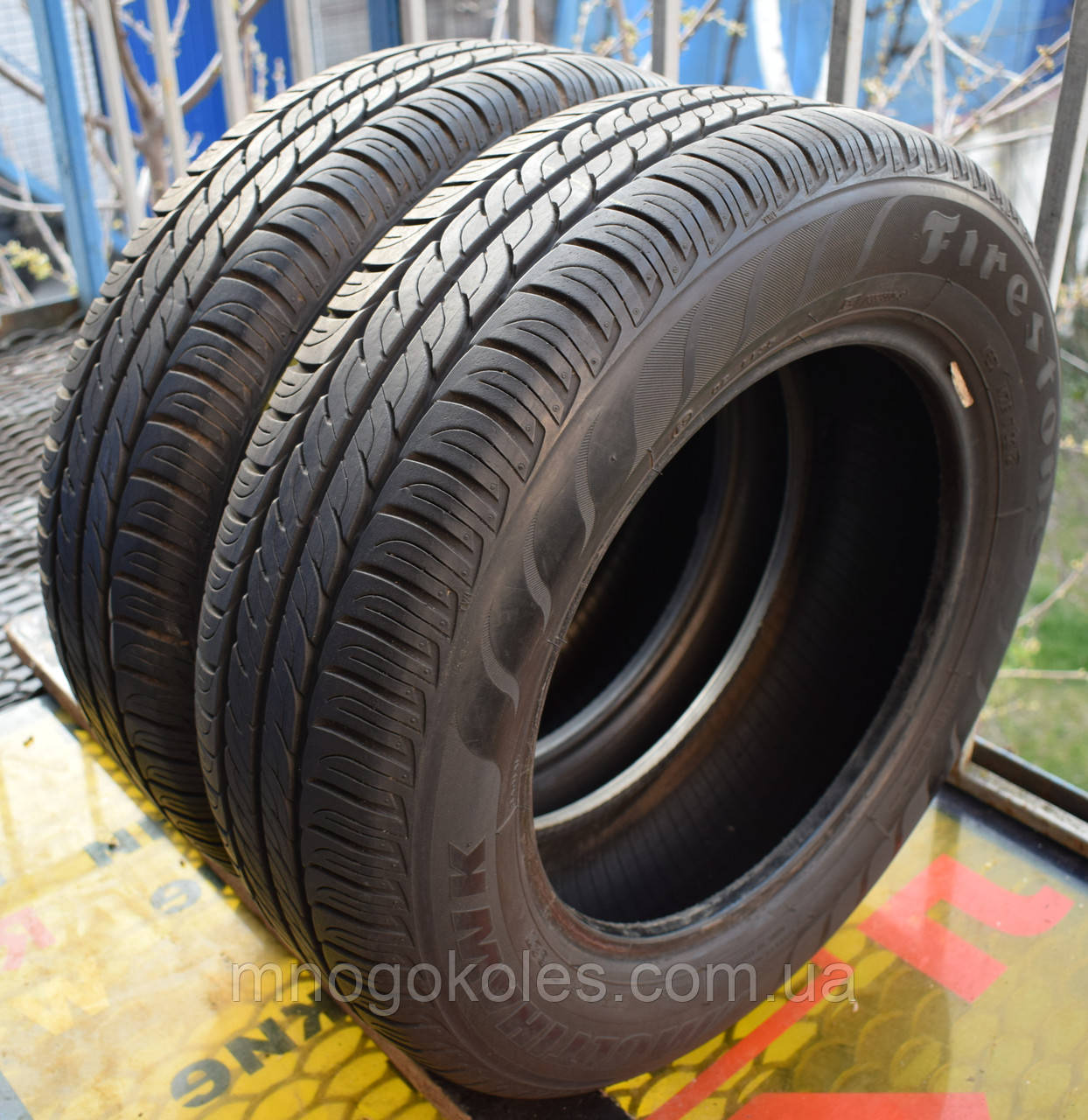 Шины б/у 175/65 R14 Firestone MultiHawk, ЛЕТО, 6 мм, пара