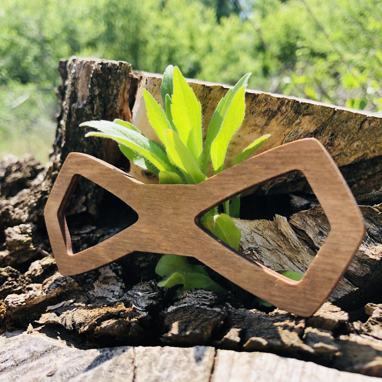 Вау! Деревянная стильная бабочка воротник 11х4 см №19, ручная работа