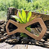 Вау! Деревянная стильная бабочка воротник 11х4 см №19, ручная работа, фото 1