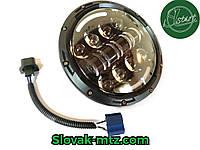 Cветодиодная LED фара 60Вт Нива, УАЗ 469, ВАЗ 2101, 2121, FJ Cruiser, мотоцикл, мото 7 дюйм