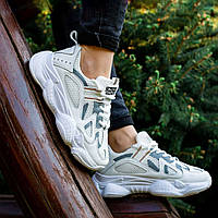 Adidas Yeezy 500 БЕЛЫЕ серебряные эко - кожа  |КОПИЯ| женские кроссовки адидас изи 500 \ размеры: 36-40