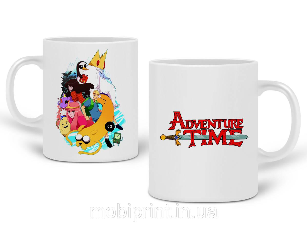 Кружка Время приключений (Adventure Time) 330 мл Чашка Керамическая (20259-1582)