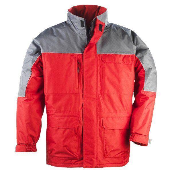 Куртка утепленная RIPSTOP красная с серым L