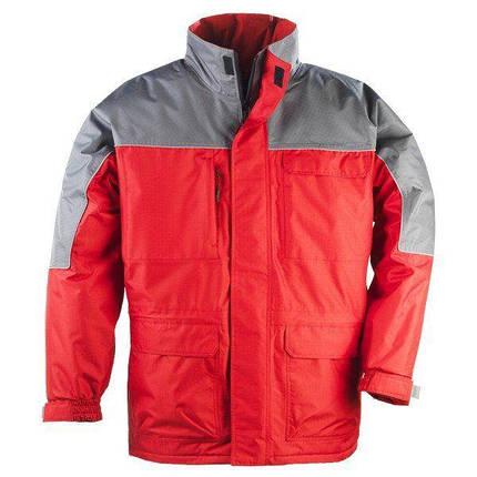 Куртка утепленная RIPSTOP красная с серым L, фото 2
