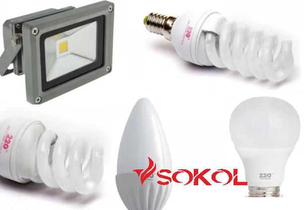 SOKOL лампи, світильники, прожектори