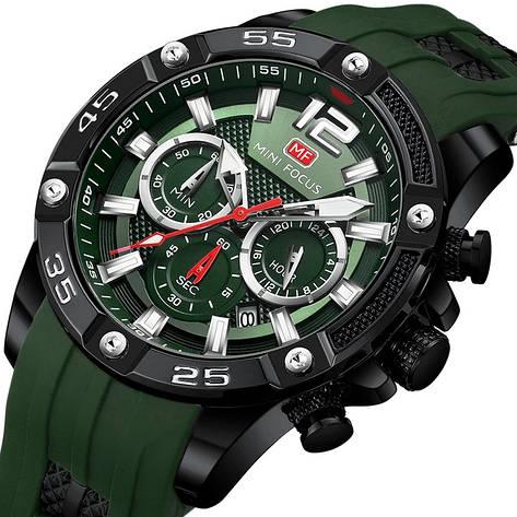 Наручні чоловічі кварцові годинники Mini Focus MF0349G Green-Black, фото 2